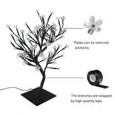 Stable Square Metal Base <b>LED Cherry Blossom</b> Bonsai Stylt Tree ...