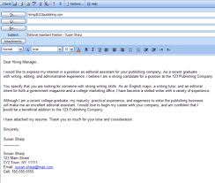 cover letter in email body. epic how to write email with cover letter and  resume attached ...