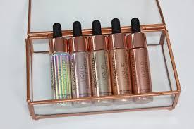 makeup revolution liquid highlighter unicorn elixir starlight chagne bronze and rose gold