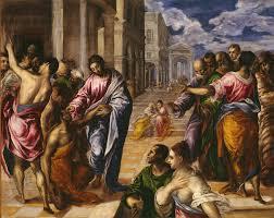 christ healing the blind artist el greco domenikos theotokopoulos greek iráklion