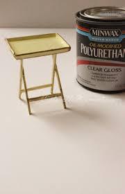 mini furniture. Diy Mini Dollhouse Tray Table - TV Furniture