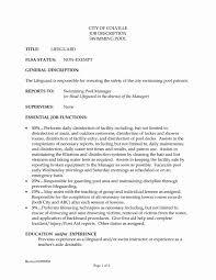 Lifeguard Job Description Resume Famous Ndoilrigs Com