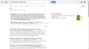 Ask Google About What Happened To The Dinosaurs And It Will Cite