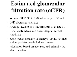 estimated glomerular filtration rate egfr