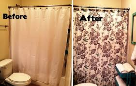 Small Bathroom Makeovers Shower Curtains