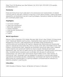 Instructional Coach Resume Template Best Design Tips