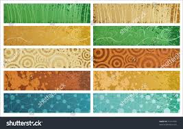 Banner Patterns Gorgeous Five Banners Grunge Texture Different Design Stock Vector 48