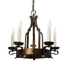 spanish revival cast brass chandelier antique lighting