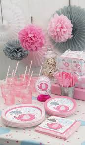 Create this beautiful baby girl shower decor for less than 40$ for 16  guests.