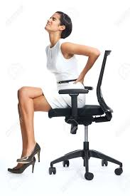 Exellent Desk Chair For Back Pain Businesswoman With Lower Inside Design Inspiration