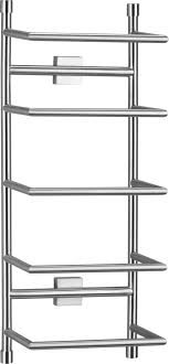 Image Bath Towel Brushed Steel Wall Mount Towel Rack Crate And Barrel 6995 Pinterest Brushed Steel Wall Mount Towel Rack Home Wants Steel Wall Wall