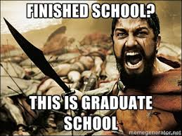 Finished School? THIS IS GRADUATE SCHOOL - This Is Sparta Meme ... via Relatably.com