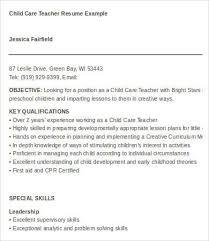 6 child care resumes child development resume