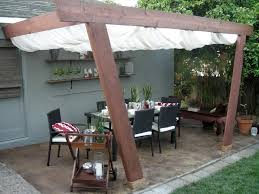 diy fabric patio cover ideas covers plans shade inexpensive covered