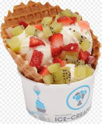 fruit salad with frozen yogurt. Modren Frozen Ice Cream Frozen Yogurt Fruit Salad Milkshake Gelato  Ice With Salad Yogurt R