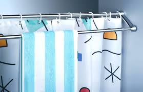 use extra shower curtain rods to increase bathroom storage more a shower curtain rod curved bathroom