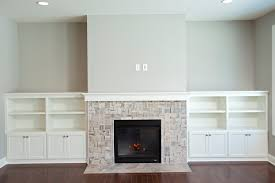 Fireplace Built Ins Cobblestone France Open Floor Plan White Cabinet Built Ins Gas