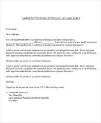 Sample Layoff Letter Layoff Letter Sample Staff Reduction Checklist Notice