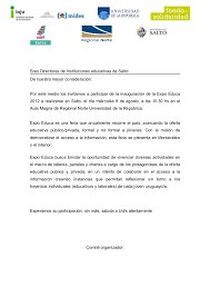 Carta Invitacion Expoeduca