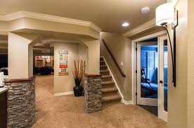 Finish Basement Design Adorable Refinish Basement Ideas Basement Finishing Design With Goodly Luxury