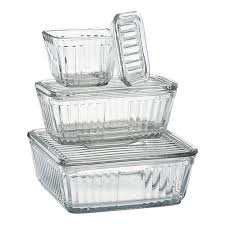 glass storage containers with lids designs