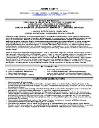 Director Of Learning Resume