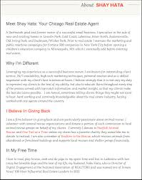 knockout examples of how to write an agent bio agent bio