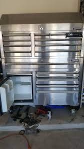 kobalt tool chest fridge and radio for