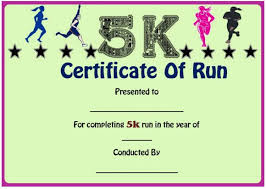 Fun Run Certificate Template Fun Run Certificate Template 14 Editable Free Word