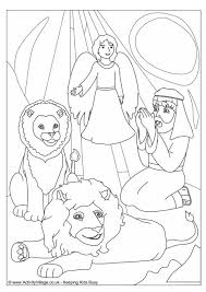 Small Picture Daniel in the Lions Den Colouring Page