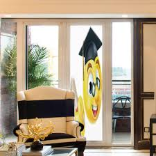 Glass Door Designs For Living Room Amazon Com Yoliyana Non Adhesive Window Film Graduation