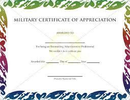 Military Certificate Templates Best Create Certificate Of Appreciation Threestrandsco