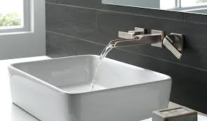 wall mounted faucets bath wall mounted faucets bathroom it can turn a sink into water feature