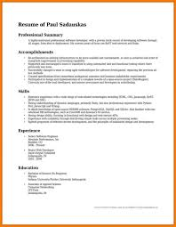 Summary Resume Examples Summary Of Accomplishments Examples For Post