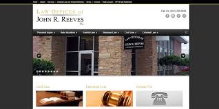 Law Office Design Fascinating John R Reeves Law Firm Website Design ThisOnlineThing
