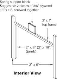 garage door framingHow to install a garage door  Garaga