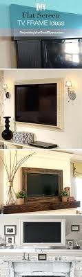 framed tv over fireplace frames framed tv over fireplace