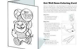 Get Well Soon Cards Printables Astonishing Get Well Printable Coloring Pages Black And White Get