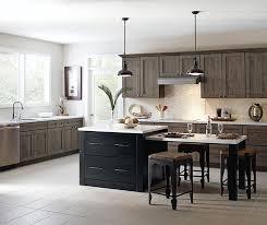 herra laminate kitchen cabinets in elk with a prestley black island