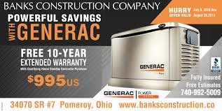 Image Electric The Point Pleasant Register Generac Banks Construction Company Pomeroy Oh