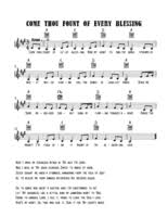 Come Thou Fount Chord Chart Come Thou Fount Of Every Blessing 43 Free Arrangements