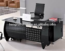 black strong office furniture glass executive office desk modern glass computer desk black glass office desk