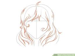 how to draw anime girl hair step by step for beginners. Modren How Image Titled Draw Anime Hair Step 8 And How To Girl By For Beginners