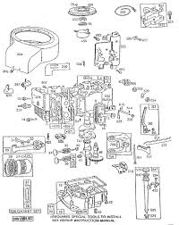 Briggs and stratton generator parts diagram engine model intended