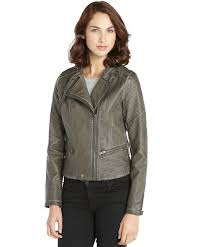 rd style charcoal faux leather asymmetrical zip front jacket