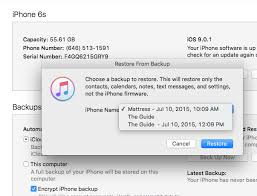 Cant Restore Iphone 6s To Latest Iphone 5 Backup Ask
