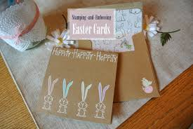 stamping and embossing easter card diy
