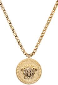 versace gold medusa chain necklace men versace jewelry real gold boutique
