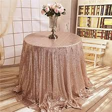 trlyc 108 round shiny rose gold sequin tablecloth for wedding and party