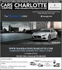 Maserati Charlotte Cars And Coffee Maserati Maserati Ghibli